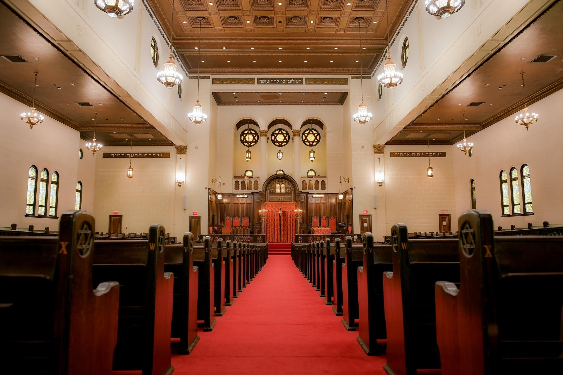 Inside Jewish Synagogue